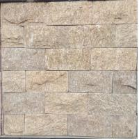 Buy cheap yellow Natural stone mushroomed stone for exterial wall cladding decoration 20x10cm from wholesalers