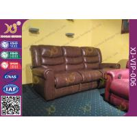 China High Density Sponge Seat Back Home Theater Sofa ,Brown  Leather Electric Recliner Chair on sale