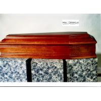 Buy cheap Solid wood coffin with carve italy casket wooden urns spanish casket from wholesalers