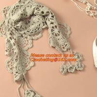 Buy cheap autumn-summer, women's all-match, cutout handmade, crochet, yarn scarf,Shawls scarves Sen from wholesalers