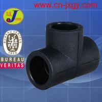 Buy cheap hdpe plastic pipe fittings socket fusion equal tee from wholesalers