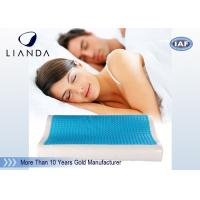 Buy cheap Visco rectangle Cooling Gel Pillow , wave summer cooling gel memory pillow from wholesalers