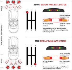 Buy cheap 8 Sensors CE Car Reversing Parking Kit Buzzer Alarm LED Display Parking Aid sensor aftermarket park assist product