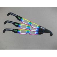 Buy cheap Custom PVC / PET paper frame tv 3d fireworks glasses for promotion product