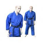 Buy cheap Blue V Neck Karate kimono GI Karate Uniform with Customized Logo from wholesalers