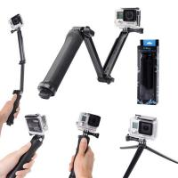 Buy cheap 3 Way Grip Arm Tripod for Gopro Accessories Hero 4 3+ 3 2 1 Cameras 3-Way Monopod Selfie Stick from wholesalers