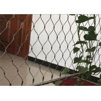 Buy cheap Green Wall Stainless Steel Cable Trellis Diamond / Rhombus Mesh Shape from wholesalers