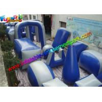 Buy cheap Customized Blue Inflatable Paintball Arena Obstacle Game For Shooting Sport from wholesalers