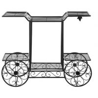Buy cheap Customized Outdoor Garden Decor Cart Design Metal Plant Pot Holder from wholesalers