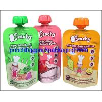 Buy cheap Custom juice spout pouch, Wholesale China Factory energy drink stand up spout pouch from wholesalers
