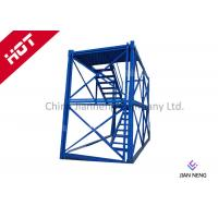 Buy cheap 3m* 2m * 2m Steel Safety Construction Cage , Scaffolding Step Ladder Cage With Safey Wire Guard from wholesalers