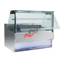 Buy cheap Square Food Display Showcase / Deli Display Refrigerator With Bottom Blue Lightbox from wholesalers