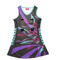 Buy cheap Quick Dry Fabric Sports Sublimated Netball Uniforms Moisture Wicking Max Wear Comfort from wholesalers