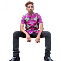 Buy cheap Men African Print Tops , Short Sleeve Print Top Shirts Spring / Summer / Autumn from wholesalers