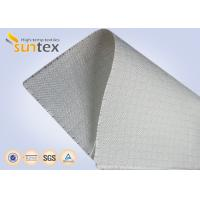 Buy cheap White Fire Resistant Glass Fibre Fabric  Roll For Construction Fire Curtain , Woven Fiberglass Cloth from wholesalers