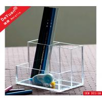 Buy cheap Plastic Pen Holder Custom Acrylic Stationery Holder Custom Size from wholesalers