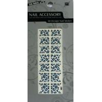 Quality Portable Blue And White French Full Nail Stickers With EN-71 Certificate for sale