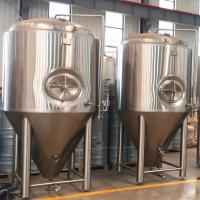 Buy cheap New design 2000L Cooling jacket conical fermenter equipment beer fermentation tank for beer brewing from wholesalers