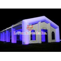 Buy cheap LED Lighting White Inflatable Party Tent , Large Square inflatable wedding tent from wholesalers