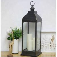 Buy cheap Battery Flickering Flame Farmhouse Lantern moroccan vintage glass led candle lantern from wholesalers