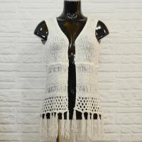 Buy cheap Fringed Hand knitted Open front Cool Womens Tank Tops , dressy tank tops from wholesalers