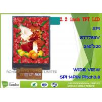Buy cheap 2.2 inch 240x320 SPI 14Pin IC: ILI9341V, Wide View TFT LCD Display from wholesalers
