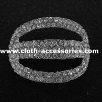 Buy cheap Wedding Garment Metal Rhinestone Buckles Handmade with 3D Plated from wholesalers