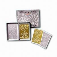 Buy cheap Premium Gold or Silver-finished Playing Cards, Customized Designs are Welcome from wholesalers