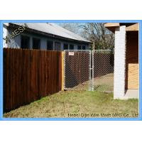 Buy cheap Vinyl Residential Chain Link Security Fence Steel Wire Property Boundary from wholesalers