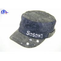 China 100% Polyester Peach Skin Woven Military Baseball Caps With Reflective Printing Logo on sale