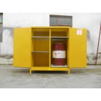 Buy cheap 110 Gallon Yellow Drum Storage Cabinets With Removable Roller For Oil Paint from wholesalers