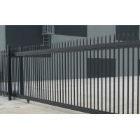 Buy cheap Stain Black powder coated Crimped Spear Tubular Security Garrison Fencing Panels  with fencing gates from wholesalers