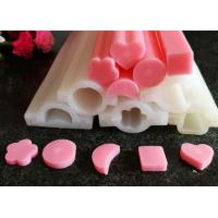 Buy cheap Custom Long Tube Soft Handmade Silicone Molds Moon / Heart  / Round Shaped from Wholesalers