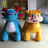 Buy cheap Hansel  2018 new designs toy coin opearted walking ride on unicorn motorized car plush toy from wholesalers