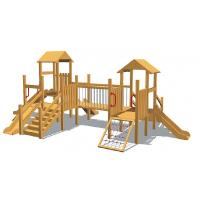 Buy cheap Wooden Outdoor Kids Playground Equipments for Educational Organizations HAP-12204 from wholesalers