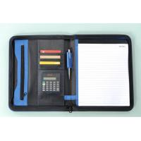 Quality business zippered file folder portfolio for sale