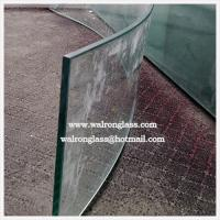 Buy cheap 3mm 4mm 5mm Bent/Curved Clear Float Tempered Glass for Bathroom/Enclosure Doors from wholesalers