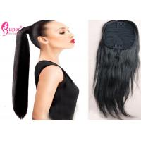 Buy cheap Wrap Around Ponytail Extension Human Hair / Natural Straight Brazilian Hair Bundles from wholesalers