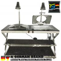Buy cheap Combined Mount In Oblong Chafing Dish With Heat Lamps In Natural Stone Table With Shelf from wholesalers