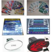 Buy cheap License Plate Frame Auto Tags Trailer Hitch Cover from wholesalers