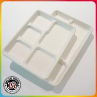 Buy cheap Biodegradable Bagasse Sugarcane Pulp Lunch Tray from wholesalers