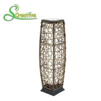 Buy cheap Romantic Outdoor Rattan Solar Garden Lights Floor Lamp With Polysilicon Solar Panel from wholesalers