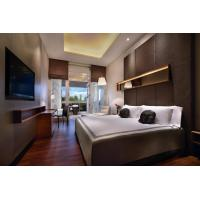 Hotel Room Furniture Fabric Upholstered Wall Panel for Bed Headboard with Hanger cabinets and Combined Working desk