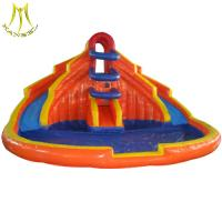 Buy cheap Hansel popular outdoor commercial bouncy castles water slide with pool fr wholesale from wholesalers