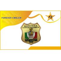 Buy cheap Private Investigator / Military Police Metal Badge With 3-Sides Hand Polished from wholesalers