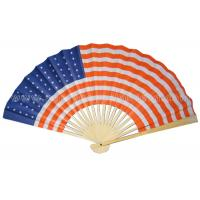 Buy cheap Flag Printed Bamboo Paper foldable Hand Fans For Collection , Souvenir hand fans from Wholesalers
