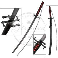 Buy cheap 41 Inch Anime Greatsword Bleach Wooden Scabbard With Black Matte Finish from wholesalers
