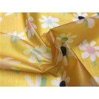 Buy cheap Little Girls Coats TPU Leather Yellow Color With White Flowers Eco - Friendly from wholesalers
