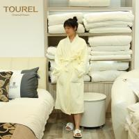Buy cheap 5 Star Luxury Hotel Spa Bathrobes White 100% Cotton Velour For Woman And Man from wholesalers