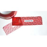 Buy cheap Conventional Packaging Tamper Seal Tape With OPENVOID Hidden Message from wholesalers